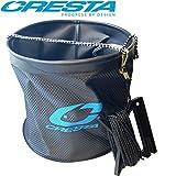 Cresta Water Bucket + 8m Seil - Faltbarer Eimer Zum Angeln, Angeleimer für Grundfutter Zum Stippen...