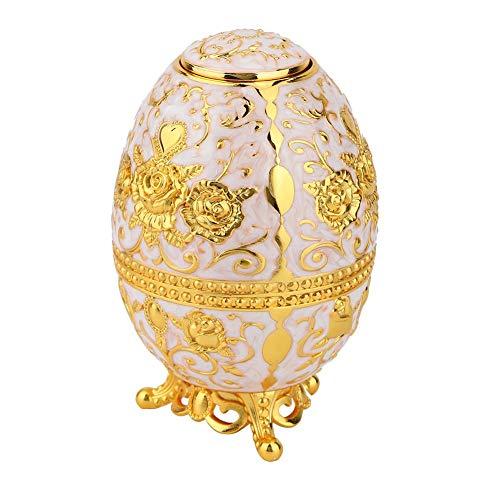 Moderno Automático Toothpick Holder Decoración para el Hogar Flor En Relieve Huevos Dispensador Caja de Metal(1)