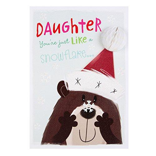 Hallmark-Weihnachtskarte für die Tochter - englischsprachig - Größe: L One Of A Kind