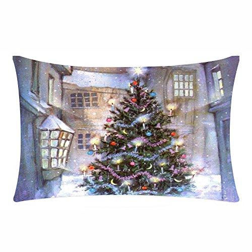 Sencillo Vida Navidad Fundas De Cojin Almohada Caso de Lino Sofa Cushion Pillow Case...
