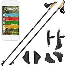 Carbon Ultra Light Nordic Walking Stöcke mit Handgelenkschlaufe verschiedene Längen Superleicht Premium GRATIS - Nordic Walking/Fitness App