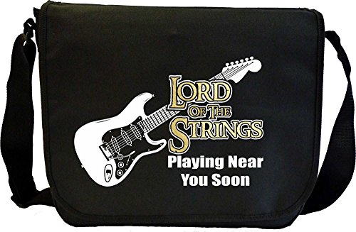 Electric-Guitar-Lord-Of-The-Strings-Near-You-Soon-Sheet-Music-Document-Bag-Musik-Notentasche-MusicaliTee