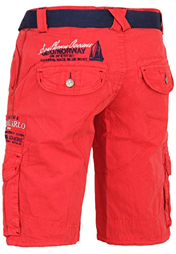 Short Vêtements Geographical Norway Homme court Pantalon Hommes Rouge - Rouge