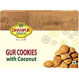Dhampure Speciality Gur Atta Cookies Whole Wheat Flour & Coconut Biscuit, Jaggery Cookies Healthy Snacks with No Added Sugar,