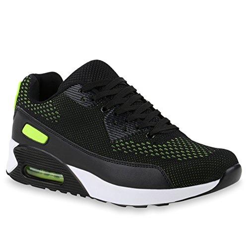 Tênis Sneakers Néon Imprime Verde Corredores Homens Mulheres Calçados Esportivos Preto qtPxSX