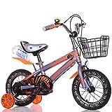 DACHUI Kinder Fahrrad, boy Kinderwagen, Baby Mädchen Fahrrad, Kinder Radfahren (Farbe: Grau, Größe: 118 cm)