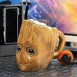 Guardians of the Galaxy 3D kop Baby Groot bruin, bedrukt, 100% keramiek, inhoud ca. 454 ml.