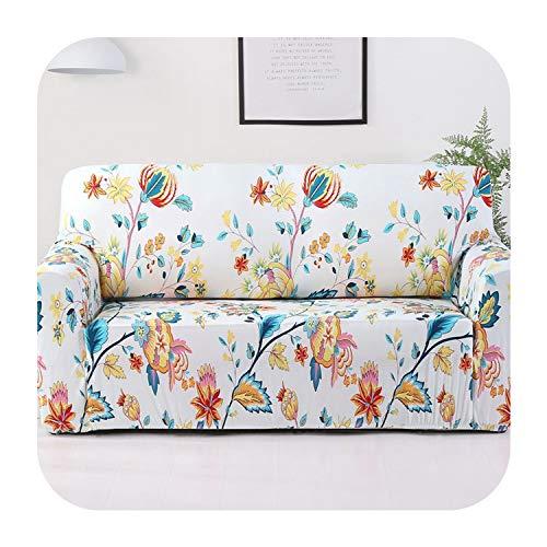 Agust D Sofa-Abdeckung Couch Elastic Stretch Wrap Dicht All Inclusive Rutschhemmende Sofa Slipcover für Wohnzimmer 1Pc Multi Farbe, Weiß, Einsitzer -