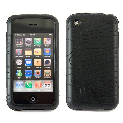 wortek Wave Silikon Schutzhülle Wellen Muster Apple iPhone 3G / iPhone 3GS Schwarz !SALE! Iphone 3g Wave