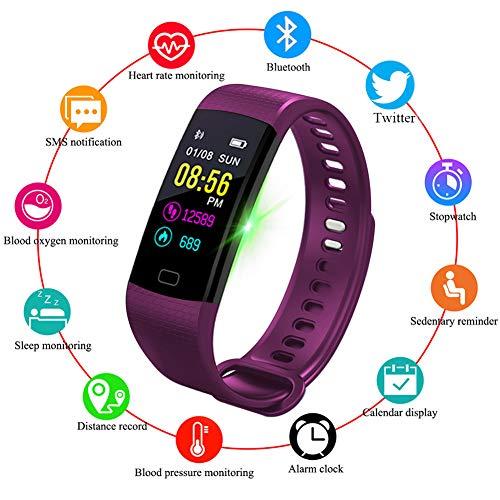 HDOIT Farbdisplay Smart Armband Pulsmesser Bluetooth Anruferinnerung Smartwatch Aktivitäts Tracker Outdoor Sportarten Schrittzähler Band Schlafüberwachung für Android & iOS Phone ()