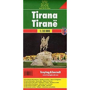 Tirana 1:10.000: Stadskaart 1:10 000