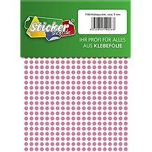 aus PVC Folie rosa wetterfest 96 Klebepunkte Markierungspunkte Kreise Punkte Aufkleber 35 mm