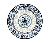 Set von 6 Klassische chinesische Art-Rund Melamin Blue & White Tischsets (Small)