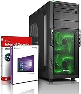 Ultra Ryzen DirectX 12 Gaming-PC Computer Ryzen 2200G 3.70 GHz Turbo - AMD Radeon Vega 8, 512 Shader, 8 Compute Units, 4 GB - 8GB DDR4 2400-1TB HDD - Windows10 Prof - DVD±RW #5629