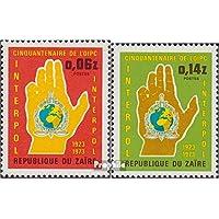 zaïre zaïrois 482-483 (complète.Edition.) 1973 50 Années interpol (Timbres pour les collectionneurs) Pompiers / Police