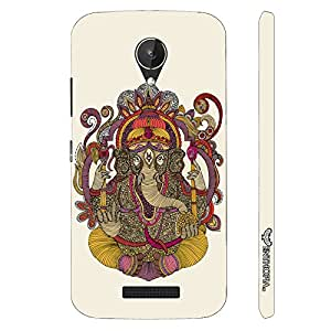 Micromax Canvas Spark Q380 YOUR FRIEND,GANESHA designer mobile hard shell case by Enthopia