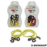 Dunlop 2 x 50cm Spanngurt Spanngummi Spanngurtsatz Gepäckgummi Expander mit Karabinerhaken