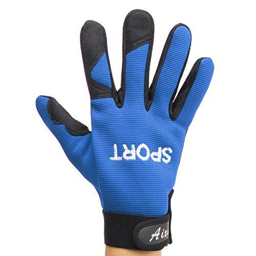 (Wooya Windbreak Warmes Motorradfahren Touchscreen Handschuhe-Blau)