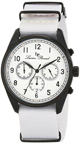 Lucien Piccard lp-10588N-bb-02–Orologio da uomo, cinturino in nylon colore bianco