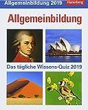 Allgemeinbildung - Kalender 2019: Das t�gliche Wissens-Quiz Bild