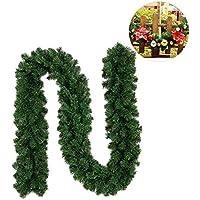 Xmas Guirnalda navideña artificial Premium,Guirnalda de Pino Artificial Guirnalda de Navidad Decoraciones de Navidad/Imitación Abeto 270cm
