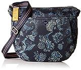 Oilily Damen Groovy Shoulderbag Lhz Schultertasche, Blau (Dark Blue), 12x30x34 cm