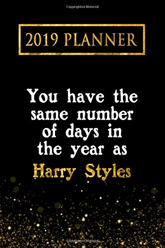 2019 Planner: You Have The Same Number Of Days In The Year As Harry Styles: Harry Styles 2019 Planner por Daring Diaries