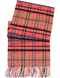 D&Y by David & Young Softer than Cashmere Scarf - Plaid (Pink)