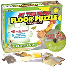 At the Farm Floor Puzzle & Music Cd