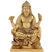 Dio indù Vishwakarma Architetto Divino Regali religiosi Ottone Puja 6 pollici, 1.1 Kg