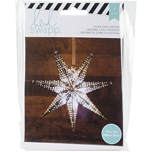 American Crafts Heidi Swapp Sept points Star Lanterne en papier aluminium argenté 28, acrylique, multicolore