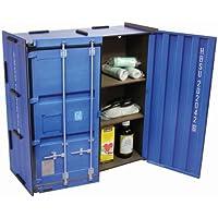 Werkhaus - Wandschränkchen Medizinschrank in Container-Optik, Blau, 37x37x15cm (CO1801) preisvergleich bei billige-tabletten.eu