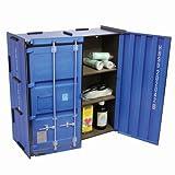 Werkhaus - Wandschränkchen Medizinschrank in Container-Optik, Blau, 37x37x15cm (CO1801)