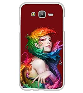 Girl with Colour Wrap 2D Hard Polycarbonate Designer Back Case Cover for Samsung Galaxy On5 (2015) :: Samsung On 5