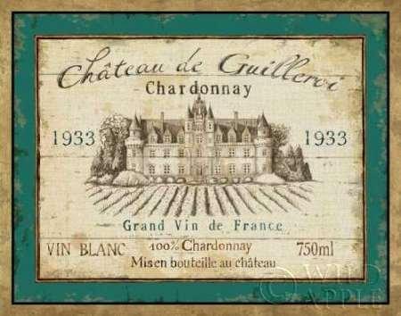 French Wine Label IV by Daphne Brissonnet, disponibile-Stampa artistica su tela e carta, Tela, SMALL (14 x 11 Inches ) - French Wine Label