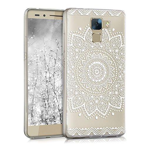 kwmobile Huawei Honor 7 / Honor 7 Premium Hülle - Handyhülle für Huawei Honor 7 / Honor 7 Premium - Handy Case in Weiß Transparent