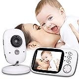Mengshen 3.2 Zoll LCD Baby Monitor Babyphone mit 2-Wege-Gespräch / IR Nachtsicht- / Temperaturmonitor / Eingebaute 8 Schlaflieder VB603Ou