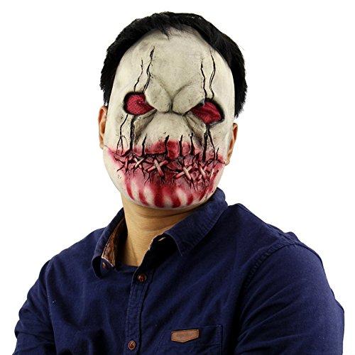 Forart Gruselige Scary Halloween Cosplay Kostüm Maske für Erwachsene Party Dekoration Requisiten Bloody Zombie Fork Monster Maske