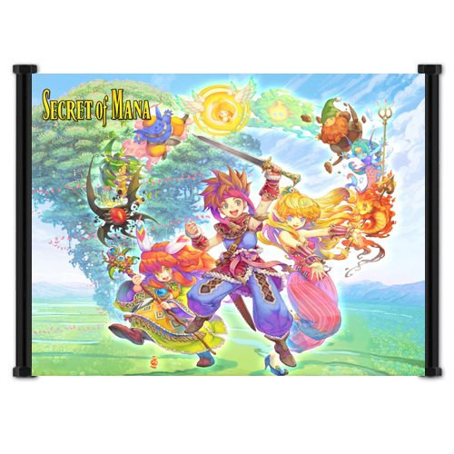 Secret of Mana (Seiken Densetsu 2) Game Fabric Wall for sale  Delivered anywhere in UK