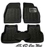 #4: Premium Quality 4D Car Mats For Maruti Suzuki Ignis (Black)