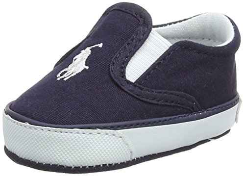 Ralph Lauren Easten EZ Layette, Baskets Mixte Bébé, Bleu (Navy Canvas 000), 18 EU