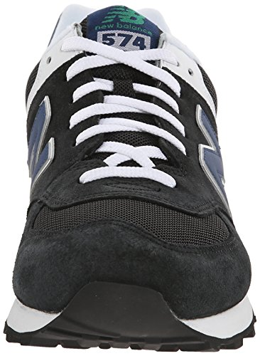 New Balance M574, Baskets Basses Homme Noir (mon Black/blue)