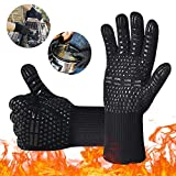 BBQ Gloves Grill Gloves, iToncs Barbecue Gloves Extreme Heat Resistant High up to