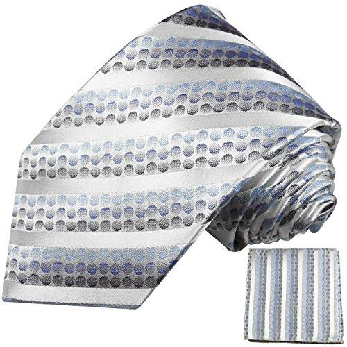Cravate homme bleu rayée ensemble de cravate 2 Pièces ( longueur 165cm )
