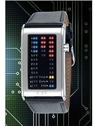 The One - IR102RB1 - Montre Homme - Quartz - Système affichage binaire par Led - Bracelet en Cuir noir