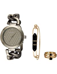 Madden Girl By Steve Madden Analog Gold Dial Women's Watch - SMGW013AG-GY