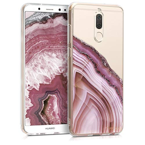 kwmobile Huawei Mate 10 Lite Hülle - Handyhülle für Huawei Mate 10 Lite - Handy Case in Pink Altrosa Transparent