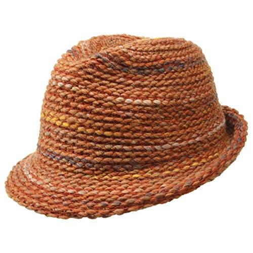 Chapeau en Tricot Meral Trilby bedacht chapeau en laine chapeaux d´ete Orange