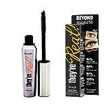 Beneficios cosméticos, son reales. Longitudamiento más allá de la máscara tamaño completo 8,5 g peso neto 0.3 oz. Color negro.