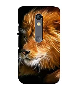 printtech Lion Abstract Fantasy Back Case Cover for Moto X Pure Edition